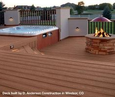 I so wish this could be our exact deck... but this site has some great DIY Deck Building Tips