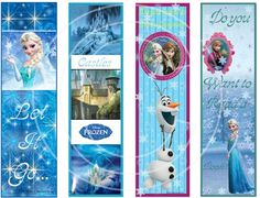 Disney Frozen Bookmarks Two Party Favors Scrapbook Digital Paper Printable Disney Bookmarks, Cool Bookmarks, Frozen Party, Printable Paper, Disney Frozen, Party Favors, Digital Art, Birthdays, Clip Art