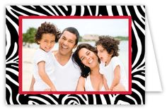 SanLori Digital Designs Zebra Foldover Photo Card : Holiday Photo Cards