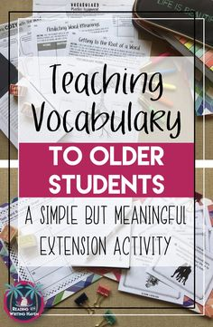 Fun Vocabulary Activity for Middle or High School Teaching vocabulary in high school? Try this simple yet meaningful extension activity.Teaching vocabulary in high school? Try this simple yet meaningful extension activity. High School Reading, High School Classroom, Middle School Ela, High School Students, Homeschool High School, Science Classroom, Ela High School, High School Teachers, Note Taking High School