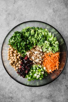 Fresh vegan curried broccoli chickpea salad with an amazing tahini dressing. This salad packs plenty of protein and fiber for a satisfying lunch that's perfect for meal-prep! This salad takes less than 20 minutes to throw together.
