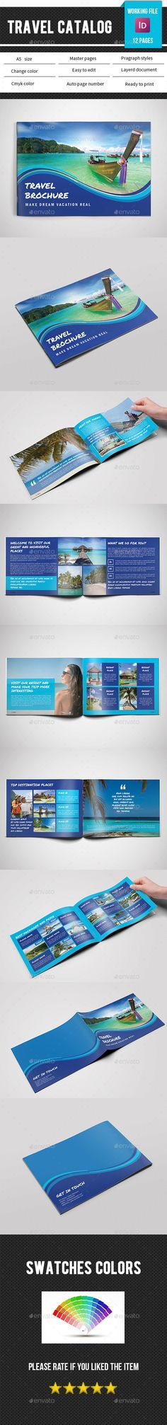Travel Or Corporate Brochures GD Travel Template And Optimized - Indesign templates brochure