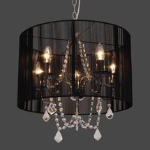 bedroom light? Black Sienna 5 Light Fitting Dunelm