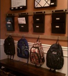 Your back-to-school game plan: have a place for outerwear, backpacks, papers and doing homework. Then teach kids the routine: hang things up,  put papers in their place and empty lunch bag.