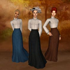 Plumb Bob Keep <> The Sims 2 Middle Ages • View topic - Edwardian Shirtwaists for AF & TF