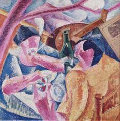 FUTURISME. afgeleid van kubisme, energie, agressie, krachtige lijnen en nieuwe technologie.