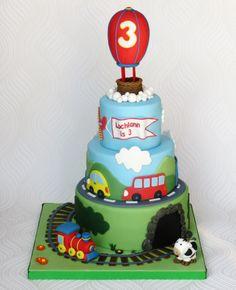 Transport Birthday Cake - A transport themed birthday cake for my nephew who…