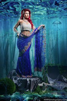 A beautiful reimagining of Disney princesses as Indian brides.