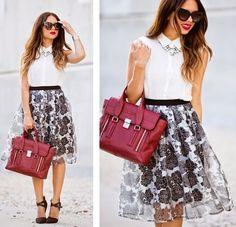 Get this look: http://lb.nu/look/6829712  More looks by Daniela Ramirez: http://lb.nu/nanysklozet  Items in this look:  3.1 Phillip Lim Bag, Ro & De Blouse   #chic #classic #romantic
