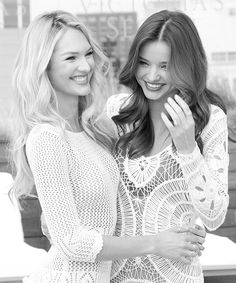 Candice Swanepoel and Miranda Kerr. My two favorite VS angels!