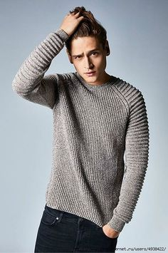 Knitting Sweter Outfit Men 20 Ideas Best Picture For Knitting top For Your Taste You are looking for something, and it is going to tell you exactly what you are looking for, and you didn't f Mens Fashion Sweaters, Men Sweater, Mens Sweater Outfits, Sweatshirt Outfit, Beginner Knit Scarf, Handgestrickte Pullover, Jumper Knitting Pattern, Knitting Charts, Style Masculin