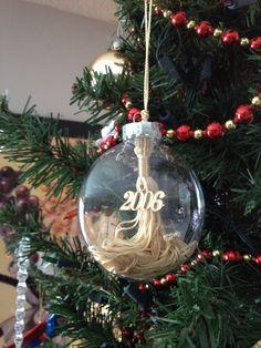 Quick & Easy DIY Graduation Tassel Holiday Ornaments - Designs By Jolene