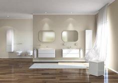 Beige et simple salle de bain zen