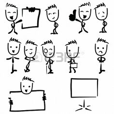 Business man illustration stick figure drawing Stock Photo - 20386919