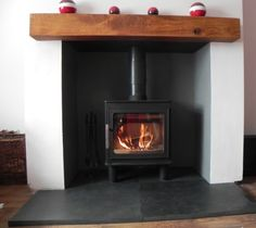 Nordpeis Bergen log burner - in the top three contenders for our living room. Gas Stove Fireplace, Wood Burner Fireplace, Oak Mantle, Inset Log Burners, Wood Stove Installation, Log Burner Living Room, Modern Stoves, Modern Bungalow, House Design