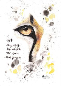 Original Abstract Art - Mixed Media Painting & Calligraphy Quote - Cheetah's Eye in Abstract Style by KassArtStudio on Etsy https://www.etsy.com/uk/listing/555247105/original-abstract-art-mixed-media