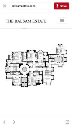 The Balsam Estate Floorplan. Second floor Luxury Floor Plans, Luxury House Plans, Best House Plans, Dream House Plans, Modern House Plans, House Floor Plans, Luxury Houses, Plan Design, Home Design