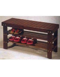 Wooden Shoe Bench Storage Seat Bedroom Furniture Entryway Organizer Rack Shelves