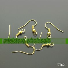 bulk sale  300pcs of gold plated earing hook LT3691 by ministore, $4.95