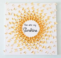 Hand-made 3D Butterflies  Ombre Sun Art with by MyHappyHeartArt