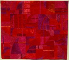 """""""Cranberry Sunset"""" by Louise Harris at Contemporary Quilt Art.  Hand dyed cottons."""