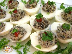 Śniadanie u Basi : Jajka faszerowane pieczarkami