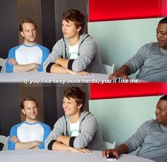 Ansel Elgort!!!!! <-------- Yep! I wanna marry him. That line was great