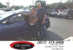 Happy Anniversary to Linda & Harold on your #Kia #Forte from Jay Simons at Van Griffith Kia!  https://deliverymaxx.com/DealerReviews.aspx?DealerCode=PXVJ  #Anniversary #VanGriffithKia