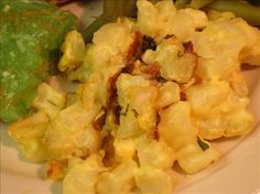Cheesy Potato Casserole from Food.com:   Great side dish for any meat dinner; can be served with your Easter ham, is a great substitute for the ordinary baked potato at your summer BBQ or can be served with any other dinner, anytime.