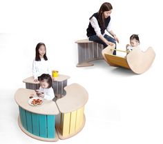 Oh Rocking Multi-Functional Furniture has been designed as a project for child care center.