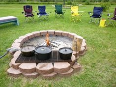 open pit with grill  - even better!