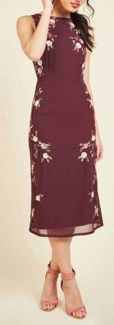 bordeaux embroidered dress