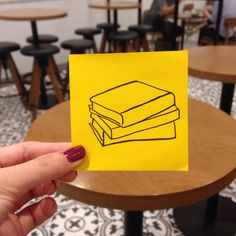 Books #postitdoodle #doodle #postit #book #books #yellow #drawing #reading #paper #color #daily #everyday #follow #followme