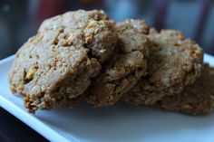 apple spiced cookies with oats