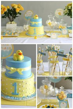 Rubber Ducky birthday party | first birthday party ideas boy. Click to see this DIY rubber ducky birthday party!