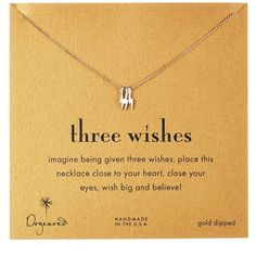 Dogeared Two-Tone Three Wishes Bolt Necklace (76 CAD) ❤ liked on Polyvore featuring jewelry, necklaces, no color, two tone necklace, 14 karat gold necklace, two tone jewelry, chain jewelry and 14 karat gold charms