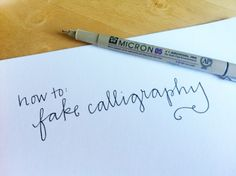 How to Fake Calligraphy