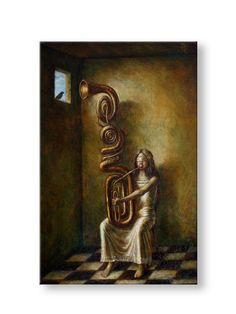 """Jake Baddeley                                             """"duet""""                                                              Oil on panel, 2012."""