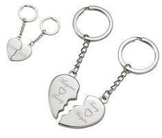 Personalized Silver Magnetic Broken Heart Keychain Engraved Free Valentines Gift For Her Great little keepsake. Magnets snap each side of the heart together. Can be engraved with up to four words on each side! Choose from any font style shown to the left of the product picture. Valentines Gifts For Her, Valentine Heart, Diy Gifts For Girlfriend, Sentimental Gifts, Toys For Girls, Gifts For Friends, Just For You, Key Tags, Silver
