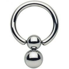 0 G en acier inoxydable Captive Bead Anneau Avec Pop Fit Ball