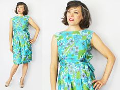 1960s Dress / 60s Dress / Couture Dress / Designer Dress / Day