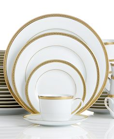Charter Club Grand Buffet Gold 40-Pc. Service for 8 (Only at Macy's) - Dinnerware - Dining & Entertaining - Macy's