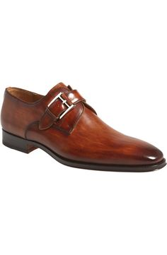 Magnanni 'Marco' Monk Strap Loafer (Men) available at Most Expensive Men's Shoes, Crazy Shoes, Me Too Shoes, Best Mens Dress Shoes, Double Monk Strap Shoes, Gentleman Shoes, Dark Brown Leather, Sock Shoes, Loafers Men