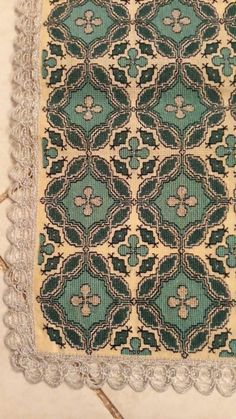 Cross Stitch Designs, Cross Stitch Patterns, Cross Stitch Embroidery, Embroidery Patterns, Creative Embroidery, Crochet Tablecloth, Needlework, Diy And Crafts, Rugs