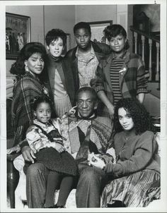 1986 Press Photo Bill Cosby Phylicia Rashad Sabrina Le Beauf THE COSBY SHOW