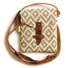 Envelope Cross Body Bag - Gold Ikat
