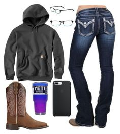 A fashion look from March 2018 featuring Miss Me, cowboy boots and brown glasses. Browse and shop related looks. Cute Cowgirl Outfits, Country Style Outfits, Southern Outfits, Rodeo Outfits, Country Girl Style, Western Outfits, Western Wear, Fall Outfits, Casual Outfits