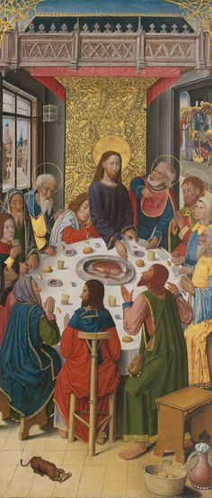 French (Picardy), Panels from the High Altar of the Charterhouse of Saint-Honoré, Thuison-les-Abbeville: The Last Supper Catholic Art, Religious Art, Last Supper Art, Chicago Museums, Jesus Christus, Les Religions, Renaissance Paintings, Canvas Paper, Art Institute Of Chicago