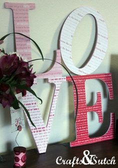 Love letters with special song lyrics adhered