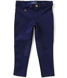 f9a2821c039a Ralph Lauren Childrenswear Little Girls 2T-6X Equestrian-Inspired  Faux-Suede Knee Patch Leggings | Dillards